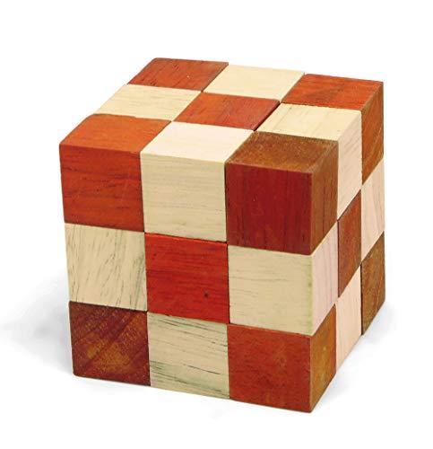 Logica Giochi Art Serpentino Arancione Rompicapo In Legno 3d Il Serpente Che Diventa Un Cubo Difficolta 46 Estremo Serie Da Collezione Leonardo Da Vinci 0