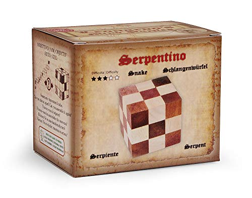 Logica Giochi Art Serpentino Rompicapo 3d Ad Incastro In Legno Difficolta 36 Difficile Serie Da Collezione Leonardo Da Vinci 0 1