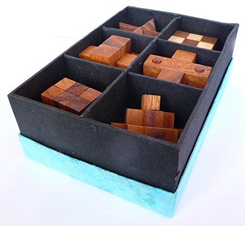 Logica Giochi Art Set Legno 6 In 1 Scatola In Carta Di Riso Rompicapo 3d In Legno Prezioso Tutte Le Difficolta Serie Da Collezione Leonardo Da Vinci 0 1