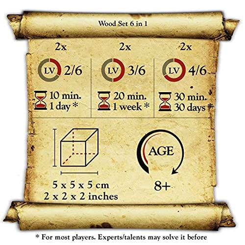 Logica Giochi Art Set Legno 6 In 1 Scatola In Carta Di Riso Rompicapo 3d In Legno Prezioso Tutte Le Difficolta Serie Da Collezione Leonardo Da Vinci 0 5