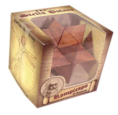 Logica Giochi Art Stella Polare Rompicapo 3d Ad Incastro In Legno Difficolta 36 Difficile Serie Leonardo Da Vinci 0 0