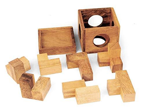 Logica Giochi Art Tetris 3d Soma Rompicapo 3d Ad Incastro In Legno 100 Rompicapo In 1 Serie Rompicapo Da Collezione Leonardo Da Vinci 0 0