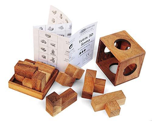 Logica Giochi Art Tetris 3d Soma Rompicapo 3d Ad Incastro In Legno 100 Rompicapo In 1 Serie Rompicapo Da Collezione Leonardo Da Vinci 0 1