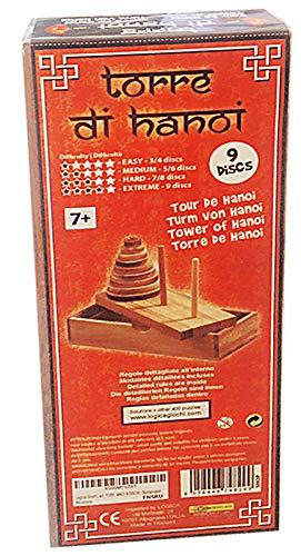 Logica Giochi Art Torre Di Hanoi 9 Dischi Rompicapo In Legno Sequenziale Difficolta Miste Scatola Richiudibile 0 0