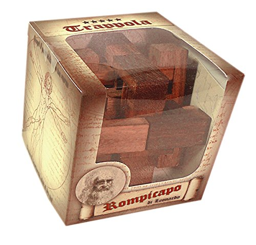 Logica Giochi Art Trappola Rompicapo 3d Ad Incastro In Legno Difficolta 56 Incredibile Serie Da Collezione Leonardo Da Vinci 0 1