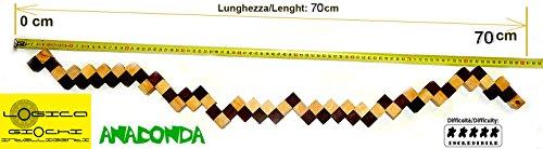 Logica Giochi Art Anaconda Rompicapo 3d In Legno Ad Incastro Difficolta 56 Incredibile Serie Da Collezione Leonardo Da Vinci 0 0