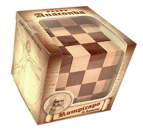 Logica Giochi Art Anaconda Rompicapo 3d In Legno Ad Incastro Difficolta 56 Incredibile Serie Da Collezione Leonardo Da Vinci 0 1