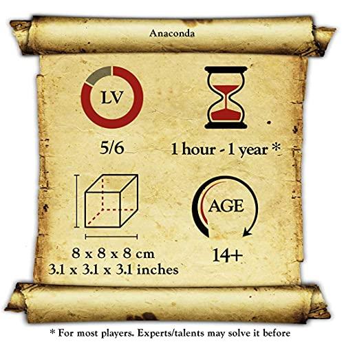 Logica Giochi Art Anaconda Rompicapo 3d In Legno Ad Incastro Difficolta 56 Incredibile Serie Da Collezione Leonardo Da Vinci 0 3
