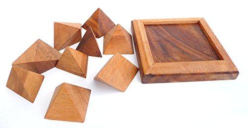 Logica Giochi Art Piramide 9 Pz Rompicapo In Legno Ad Incastro Difficolta 36 Difficile Serie Leonardo Da Vinci 0 0