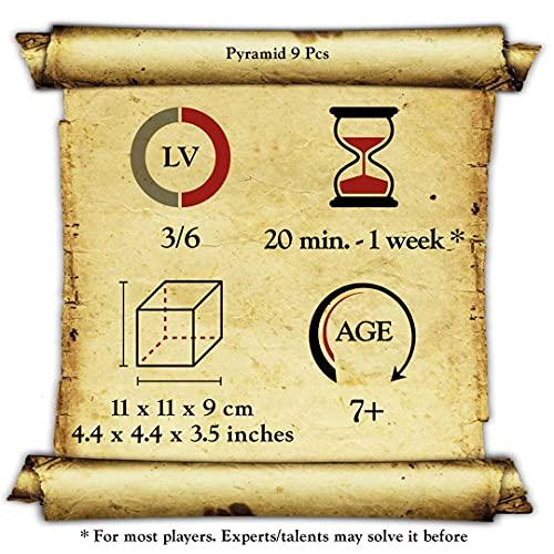 Logica Giochi Art Piramide 9 Pz Rompicapo In Legno Ad Incastro Difficolta 36 Difficile Serie Leonardo Da Vinci 0 4