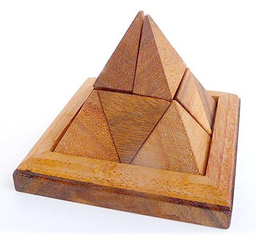 Logica Giochi Art Piramide 9 Pz Rompicapo In Legno Ad Incastro Difficolta 36 Difficile Serie Leonardo Da Vinci 0