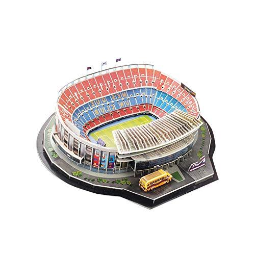 Longrep Stadio Puzzle 3d Kit Di Costruzione Di Modelli Per Bambini Modelli Per Adulti Puzzle Da Stadio Di Calcio Fai Da Te Kit Modello Stadio Nou Camp Regalo Giocattolo Educativo Per Ragazze Ragazzi 0 3