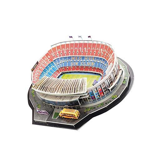 Longrep Stadio Puzzle 3d Kit Di Costruzione Di Modelli Per Bambini Modelli Per Adulti Puzzle Da Stadio Di Calcio Fai Da Te Kit Modello Stadio Nou Camp Regalo Giocattolo Educativo Per Ragazze Ragazzi 0 4