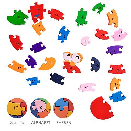 Lumaca Puzzle Con Numeri In Legno Numeri E Lettere Giocattolo Educativo Per Bambini Dai 3 Anni In Su 0 1