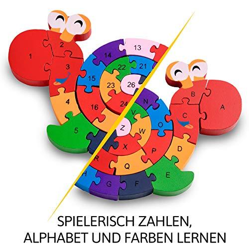 Lumaca Puzzle Con Numeri In Legno Numeri E Lettere Giocattolo Educativo Per Bambini Dai 3 Anni In Su 0 2