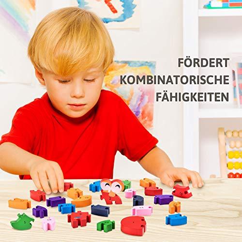 Lumaca Puzzle Con Numeri In Legno Numeri E Lettere Giocattolo Educativo Per Bambini Dai 3 Anni In Su 0 3