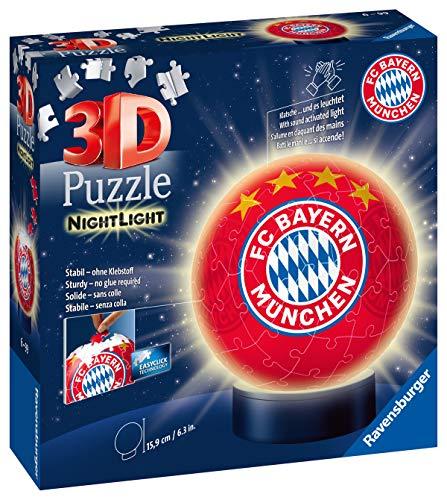 Nachtlicht Fc Bayern Munchen 3d Puzzle Ball 72 Teile Erlebe Puzzeln In Der 3 Dimension 0 0