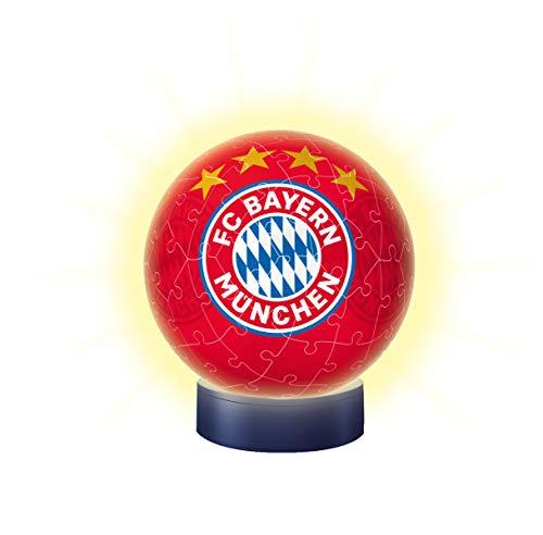 Nachtlicht Fc Bayern Munchen 3d Puzzle Ball 72 Teile Erlebe Puzzeln In Der 3 Dimension 0 1
