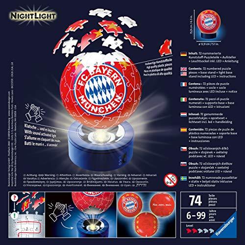 Nachtlicht Fc Bayern Munchen 3d Puzzle Ball 72 Teile Erlebe Puzzeln In Der 3 Dimension 0 2