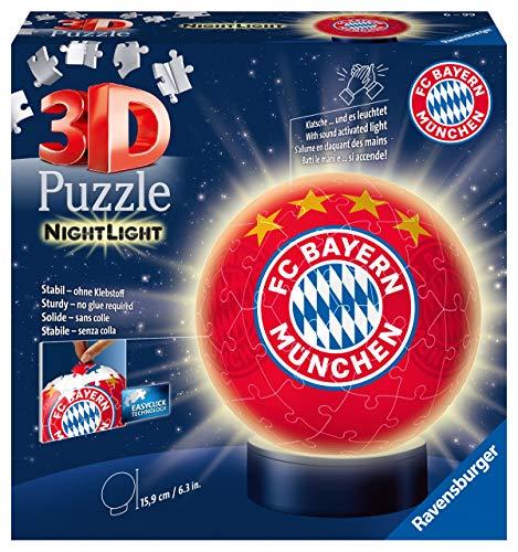 Nachtlicht Fc Bayern Munchen 3d Puzzle Ball 72 Teile Erlebe Puzzeln In Der 3 Dimension 0
