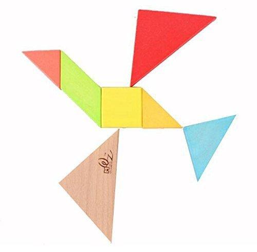 Ojin 7pcs Tangram In Legno Rompicapo Puzzle Educativo Per Lo Sviluppo Intellettuale Giocattolo Per Bambini 0 0