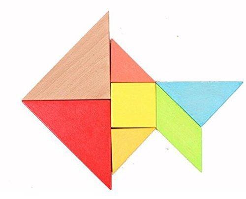 Ojin 7pcs Tangram In Legno Rompicapo Puzzle Educativo Per Lo Sviluppo Intellettuale Giocattolo Per Bambini 0 1