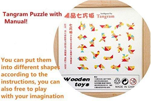 Ojin 7pcs Tangram In Legno Rompicapo Puzzle Educativo Per Lo Sviluppo Intellettuale Giocattolo Per Bambini 0 3