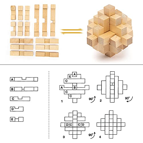 Pamray 3d Puzzle Giocattoli Legno Rompicapo Giocattoli Educativi Game Gioco Di Cube Regali Per Bambini Style B 0 0