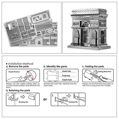 Piececool 3d Kit Per Fai Da Te Modelli Di Naviere In Metallo Tagliato Al Laser Puzzle Per Adulti Arco Di Triomphe 0 1