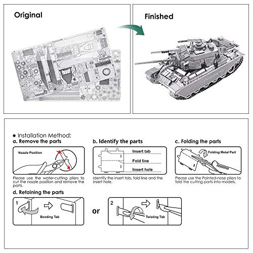 Piececool Centurion Afv Puzzle In Metallo 3d Per Adulti 0 1
