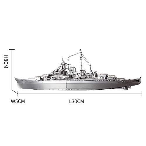Piececool Kit Modello In Metallo Bismarck Battleship Puzzle 3d In Metallo Per Adulti 0 1