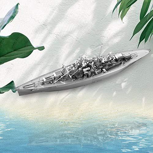 Piececool Kit Modello In Metallo Bismarck Battleship Puzzle 3d In Metallo Per Adulti 0 2