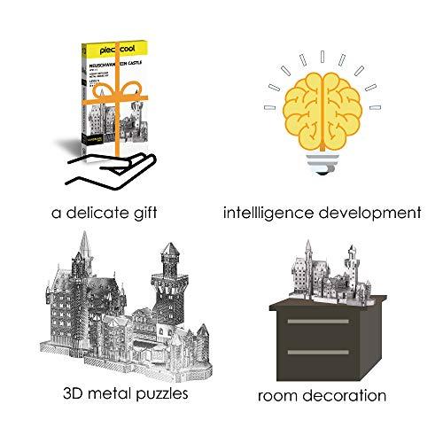 Piececool Metal Lucchetto Per Puzzle 3d Modello Neuschwanstein Metal Per Risvegliare 0 3