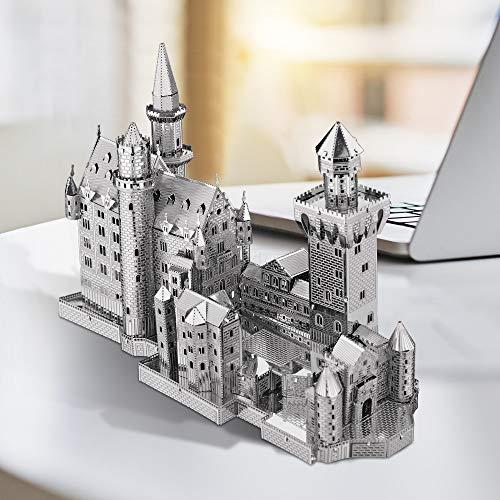 Piececool Metal Lucchetto Per Puzzle 3d Modello Neuschwanstein Metal Per Risvegliare 0 4