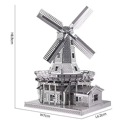 Piececool Metal Modello 3d Puzzle Olandese A Vento In Metallo Modello Per Risveglio 0 2