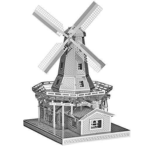 Piececool Metal Modello 3d Puzzle Olandese A Vento In Metallo Modello Per Risveglio 0