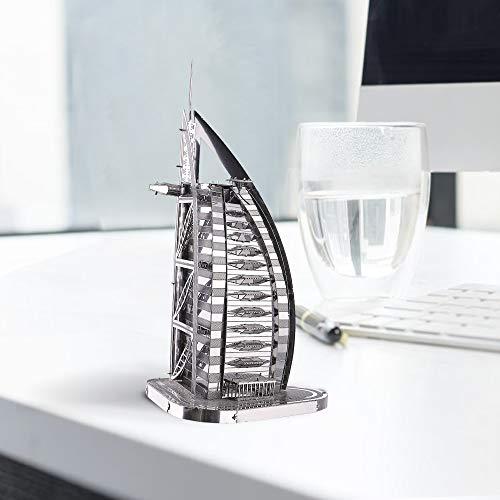 Piececool Puzzle 3d Fai Da Te In Metallo Per Burj Al Arab Accessori 32 Pezzi 0 0