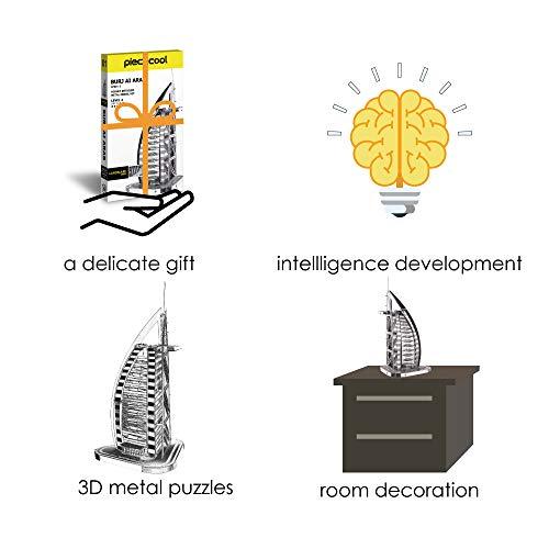 Piececool Puzzle 3d Fai Da Te In Metallo Per Burj Al Arab Accessori 32 Pezzi 0 4
