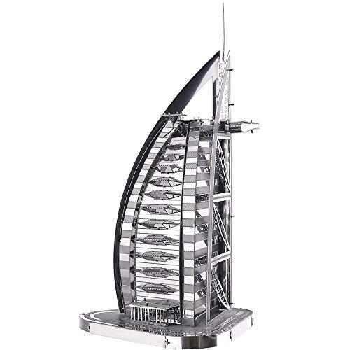 Piececool Puzzle 3d Fai Da Te In Metallo Per Burj Al Arab Accessori 32 Pezzi 0