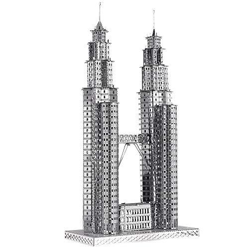 Piececool Puzzle 3d Fai Da Te In Metallo Per Petronas Turme Accessori 38 Pezzi 0 0