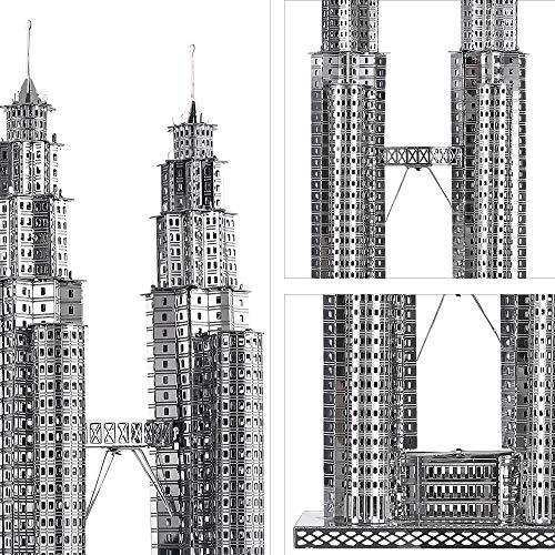 Piececool Puzzle 3d Fai Da Te In Metallo Per Petronas Turme Accessori 38 Pezzi 0 1
