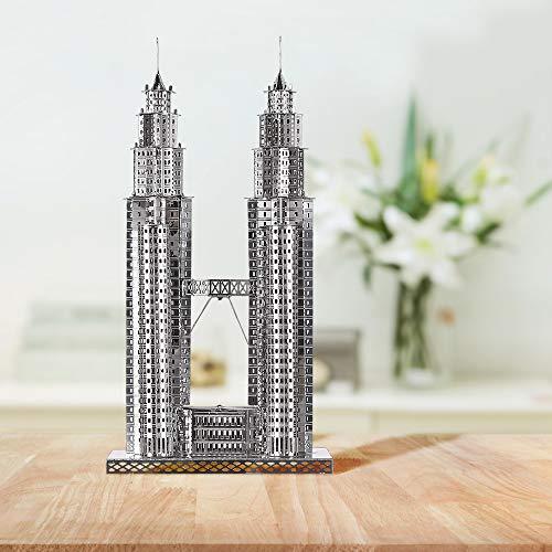 Piececool Puzzle 3d Fai Da Te In Metallo Per Petronas Turme Accessori 38 Pezzi 0 2