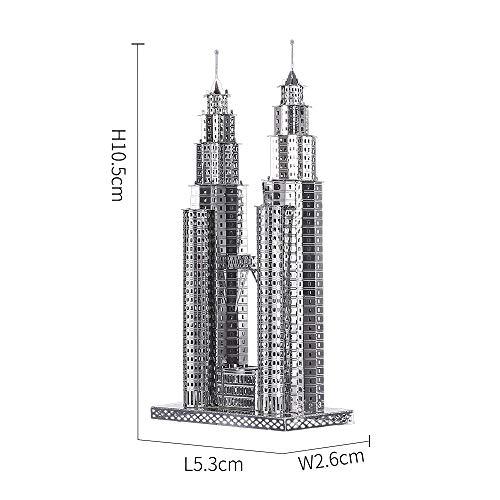 Piececool Puzzle 3d Fai Da Te In Metallo Per Petronas Turme Accessori 38 Pezzi 0 3