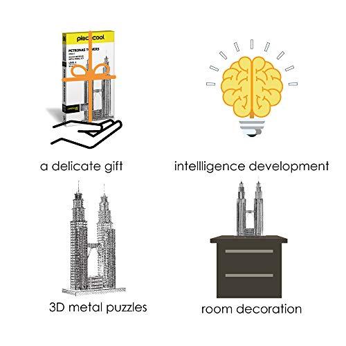 Piececool Puzzle 3d Fai Da Te In Metallo Per Petronas Turme Accessori 38 Pezzi 0 4