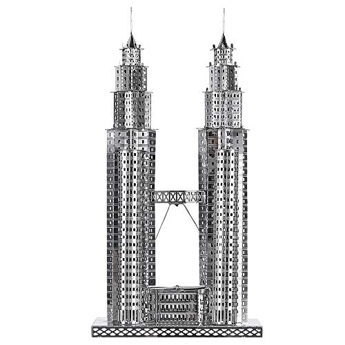 Piececool Puzzle 3d Fai Da Te In Metallo Per Petronas Turme Accessori 38 Pezzi 0