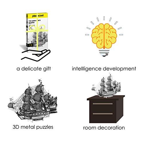Piececool Puzzle 3d Fai Da Te In Metallo Per La Vendetta Della Colonia Accessori 63 Pezzi 0 4