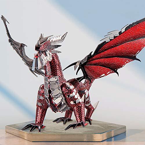 Piececool Puzzle 3d In Metallo Nero A Forma Di Drago Per Il Fai Da Te Ideale Come Regalo Di Compleanno Per Ragazzi E Adulti 0 1