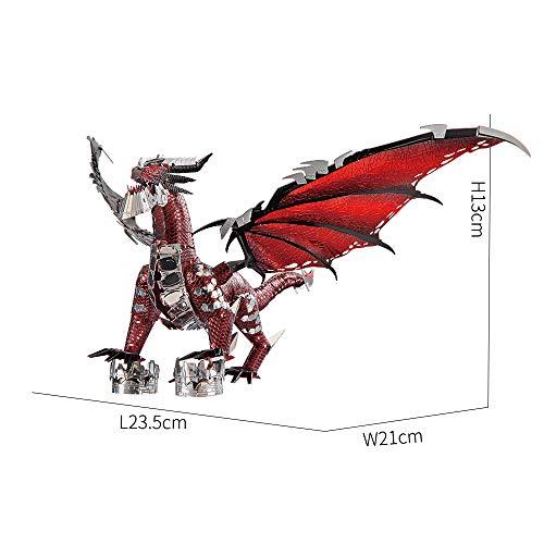 Piececool Puzzle 3d In Metallo Nero A Forma Di Drago Per Il Fai Da Te Ideale Come Regalo Di Compleanno Per Ragazzi E Adulti 0 2