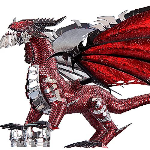 Piececool Puzzle 3d In Metallo Nero A Forma Di Drago Per Il Fai Da Te Ideale Come Regalo Di Compleanno Per Ragazzi E Adulti 0 3