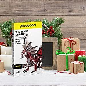 Piececool Puzzle 3d In Metallo Nero A Forma Di Drago Per Il Fai Da Te Ideale Come Regalo Di Compleanno Per Ragazzi E Adulti 0 5
